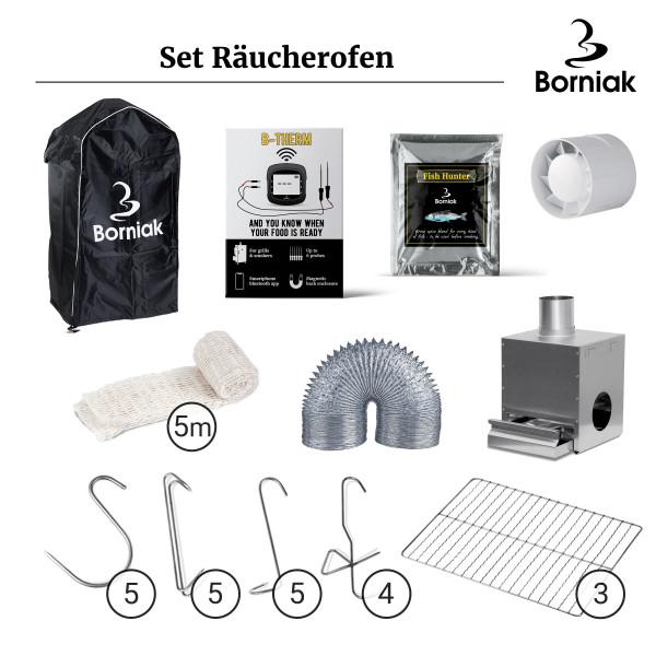 Borniak Edelstahl Räucherkammer Set 150 Räucherofen für BBQ Smoker günstig kaufen