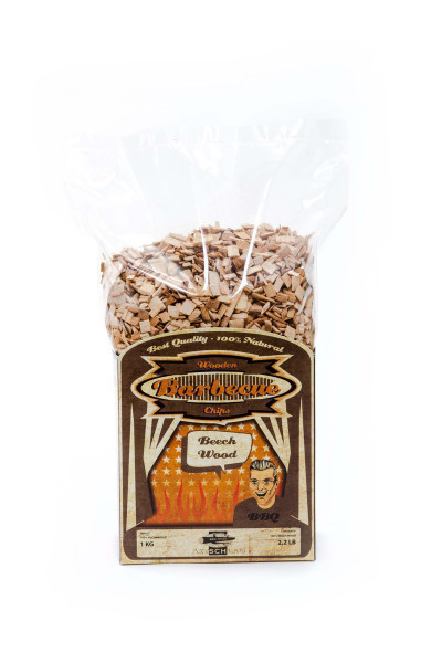 Axtschlag Räucherchips Buche 1kg kaufen - BBQ24 Wood Chips & Grill Shop