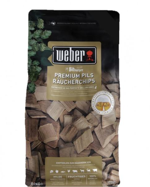 Weber Räucherchips Buche + Bitburger Premium Pils Bier kaufen 700g