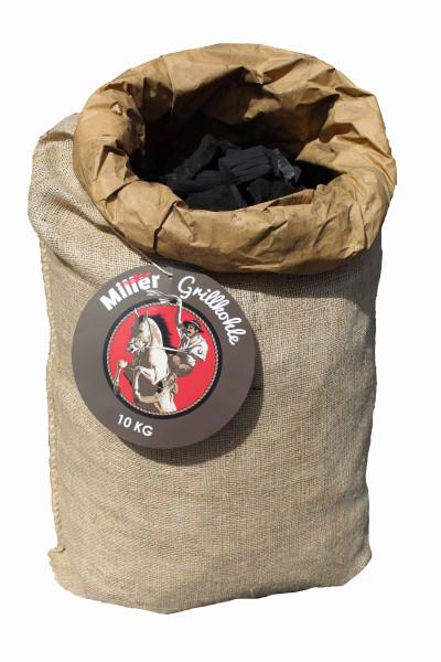 Miller Nachhaltige Grillkohle Eukalyptusholz 10kg aus Aufforstung (Nebenprodukt)