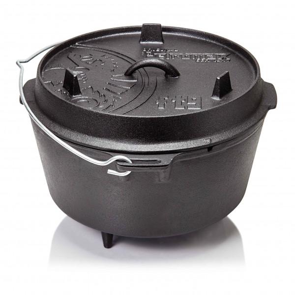 Petromax Feuertopf ft9 Dutch Oven mit Füssen Gusseisen für offenes Feuer & Grill