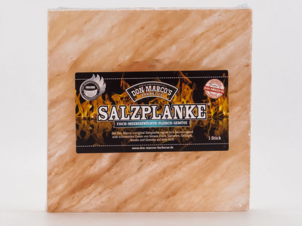 Don Marco´s Salzplanke L 20x20x2,5 cm
