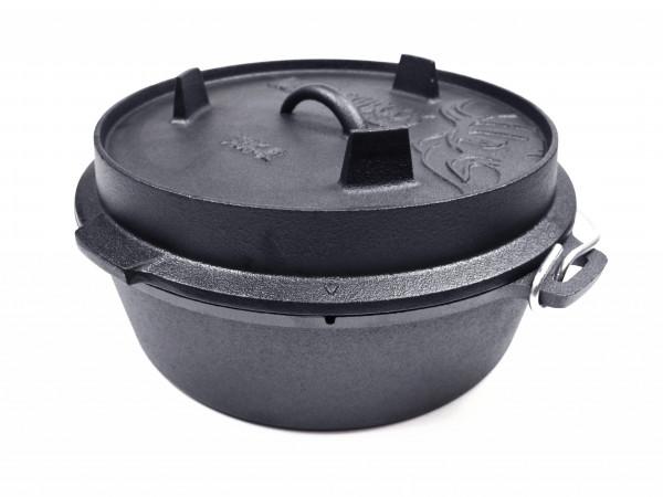 Valhal Outdoor Feuertopf mit flachem Boden - Topf 6,1 L