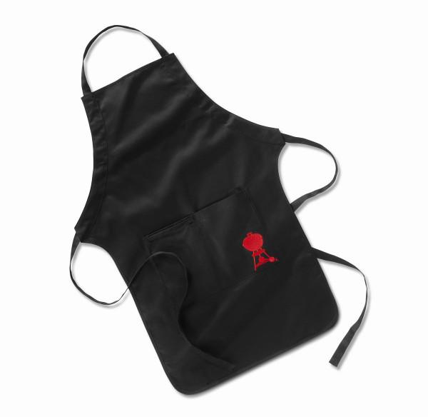 WEBER Grillschürze Schwarz mit roten Kettle Grill