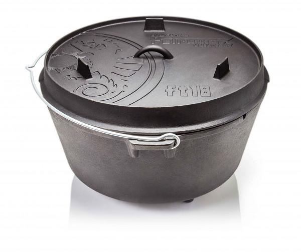 Petromax Feuertopf ft18 Dutch Oven mit Füssen Gusseisen für offenes Feuer & Grill