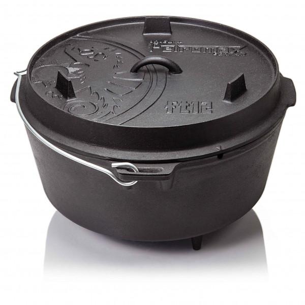 Petromax Feuertopf ft12 Dutch Oven gusseisern grillen auf offenem Feuer