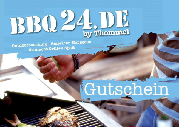 50,- € Geschenkgutschein verschenken BBQ24.de – Grillshop