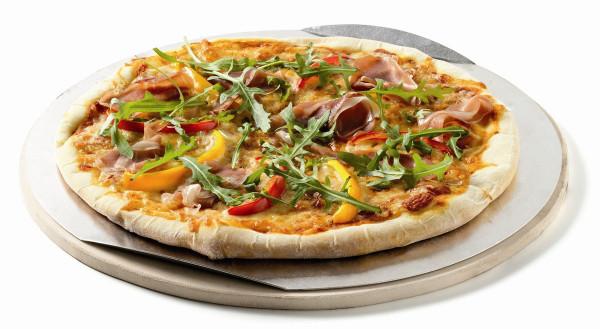 Weber Pizzastein für Grill, rund Ø26 cm aus Cordierit mit Backblech
