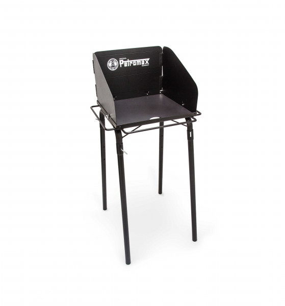 Schwarzer Petromax fe45 Feuertopf / Dutch Oven Tisch bequem grillen