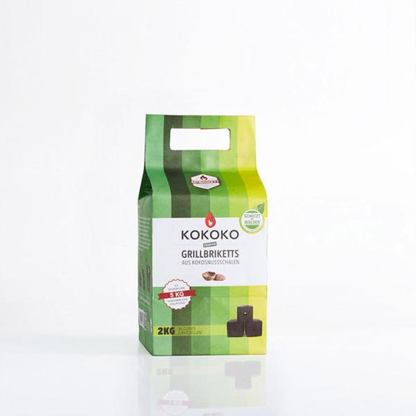 Mc Brikett KOKOKO CUBES 2kg Nachhaltige Grillbriketts aus Kokosnussschalen