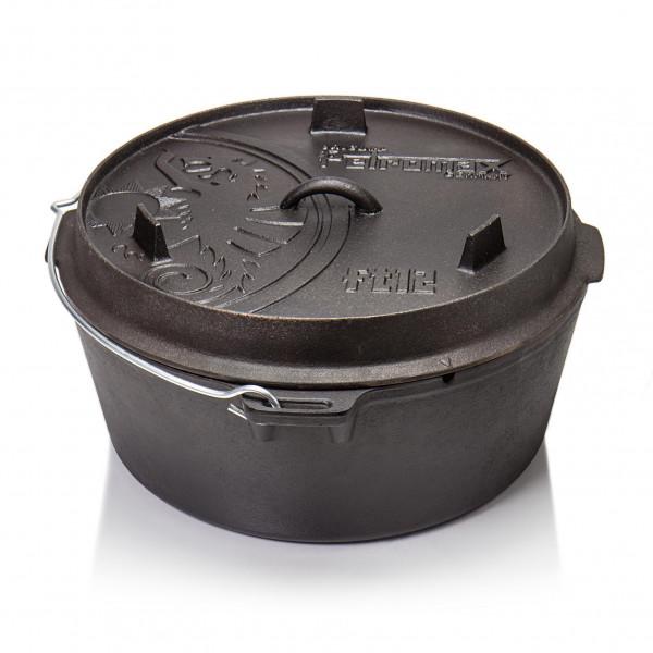 Original Petromax Feuertopf ft12 groß ohne Füße Dutch Oven Gusseisern für offenes Feuer